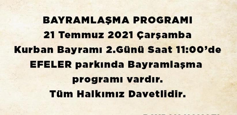 Bayramlaşma Programı